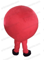 Red Clown Ball Mascot