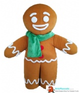 Gingerbread man mascot costume