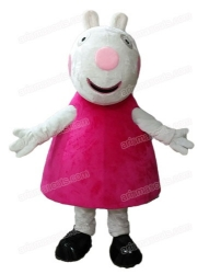 Suzy Sheep mascot costume