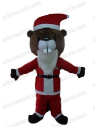 Christmas Squirrel Mascot
