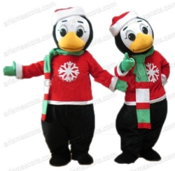Christmas Penguin Mascot